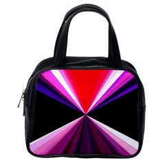 Red And Purple Triangles Abstract Pattern Background Classic Handbags (One Side)
