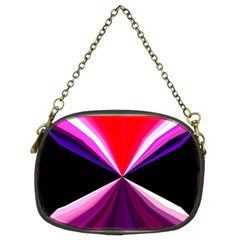 Red And Purple Triangles Abstract Pattern Background Chain Purses (two Sides)