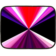 Red And Purple Triangles Abstract Pattern Background Double Sided Fleece Blanket (mini)