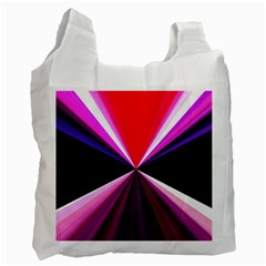 Red And Purple Triangles Abstract Pattern Background Recycle Bag (Two Side)