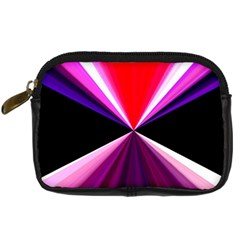 Red And Purple Triangles Abstract Pattern Background Digital Camera Cases