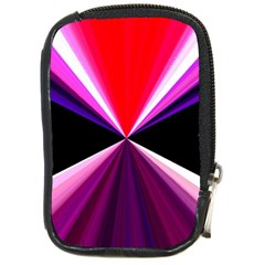 Red And Purple Triangles Abstract Pattern Background Compact Camera Cases