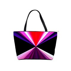 Red And Purple Triangles Abstract Pattern Background Shoulder Handbags