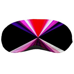 Red And Purple Triangles Abstract Pattern Background Sleeping Masks