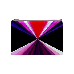 Red And Purple Triangles Abstract Pattern Background Cosmetic Bag (Medium)