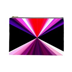 Red And Purple Triangles Abstract Pattern Background Cosmetic Bag (large)