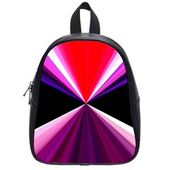 Red And Purple Triangles Abstract Pattern Background School Bags (Small)