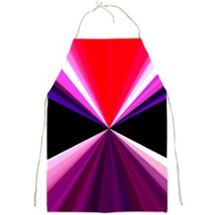 Red And Purple Triangles Abstract Pattern Background Full Print Aprons