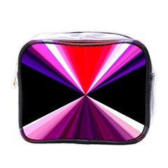 Red And Purple Triangles Abstract Pattern Background Mini Toiletries Bags