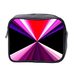 Red And Purple Triangles Abstract Pattern Background Mini Toiletries Bag 2-Side