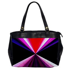 Red And Purple Triangles Abstract Pattern Background Office Handbags