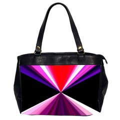 Red And Purple Triangles Abstract Pattern Background Office Handbags (2 Sides)