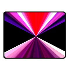 Red And Purple Triangles Abstract Pattern Background Fleece Blanket (Small)