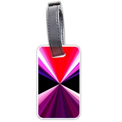 Red And Purple Triangles Abstract Pattern Background Luggage Tags (One Side)