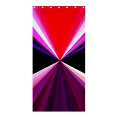 Red And Purple Triangles Abstract Pattern Background Shower Curtain 36  x 72  (Stall)