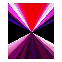 Red And Purple Triangles Abstract Pattern Background Shower Curtain 60  X 72  (medium)