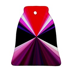 Red And Purple Triangles Abstract Pattern Background Bell Ornament (Two Sides)