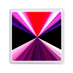 Red And Purple Triangles Abstract Pattern Background Memory Card Reader (square)