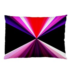 Red And Purple Triangles Abstract Pattern Background Pillow Case (Two Sides)