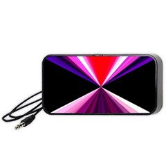 Red And Purple Triangles Abstract Pattern Background Portable Speaker (Black)