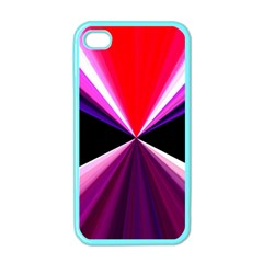 Red And Purple Triangles Abstract Pattern Background Apple Iphone 4 Case (color)