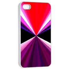 Red And Purple Triangles Abstract Pattern Background Apple iPhone 4/4s Seamless Case (White)