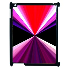 Red And Purple Triangles Abstract Pattern Background Apple iPad 2 Case (Black)