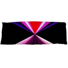 Red And Purple Triangles Abstract Pattern Background Body Pillow Case Dakimakura (Two Sides)
