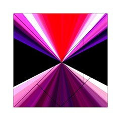 Red And Purple Triangles Abstract Pattern Background Acrylic Tangram Puzzle (6  x 6 )