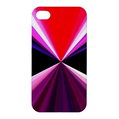 Red And Purple Triangles Abstract Pattern Background Apple Iphone 4/4s Premium Hardshell Case