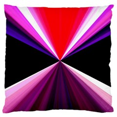 Red And Purple Triangles Abstract Pattern Background Large Cushion Case (two Sides)