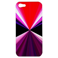 Red And Purple Triangles Abstract Pattern Background Apple iPhone 5 Hardshell Case