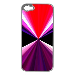 Red And Purple Triangles Abstract Pattern Background Apple Iphone 5 Case (silver)
