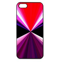 Red And Purple Triangles Abstract Pattern Background Apple Iphone 5 Seamless Case (black)