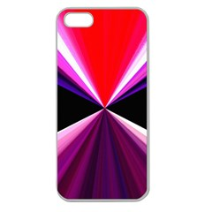 Red And Purple Triangles Abstract Pattern Background Apple Seamless Iphone 5 Case (clear)