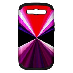 Red And Purple Triangles Abstract Pattern Background Samsung Galaxy S Iii Hardshell Case (pc+silicone)