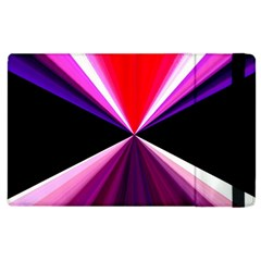 Red And Purple Triangles Abstract Pattern Background Apple Ipad 2 Flip Case