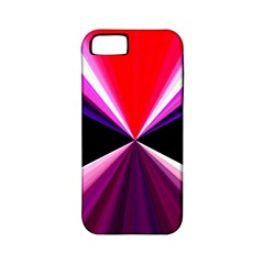 Red And Purple Triangles Abstract Pattern Background Apple Iphone 5 Classic Hardshell Case (pc+silicone)