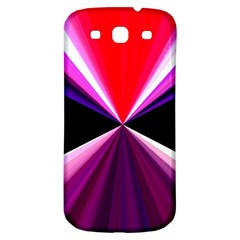 Red And Purple Triangles Abstract Pattern Background Samsung Galaxy S3 S Iii Classic Hardshell Back Case