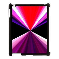 Red And Purple Triangles Abstract Pattern Background Apple iPad 3/4 Case (Black)