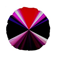 Red And Purple Triangles Abstract Pattern Background Standard 15  Premium Round Cushions