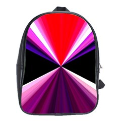 Red And Purple Triangles Abstract Pattern Background School Bags (xl)
