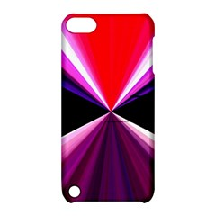Red And Purple Triangles Abstract Pattern Background Apple Ipod Touch 5 Hardshell Case With Stand