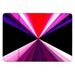 Red And Purple Triangles Abstract Pattern Background Samsung Galaxy Tab 8 9  P7300 Flip Case