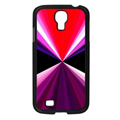 Red And Purple Triangles Abstract Pattern Background Samsung Galaxy S4 I9500/ I9505 Case (black)