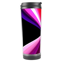 Red And Purple Triangles Abstract Pattern Background Travel Tumbler