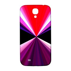 Red And Purple Triangles Abstract Pattern Background Samsung Galaxy S4 I9500/I9505  Hardshell Back Case