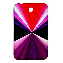 Red And Purple Triangles Abstract Pattern Background Samsung Galaxy Tab 3 (7 ) P3200 Hardshell Case