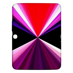 Red And Purple Triangles Abstract Pattern Background Samsung Galaxy Tab 3 (10.1 ) P5200 Hardshell Case
