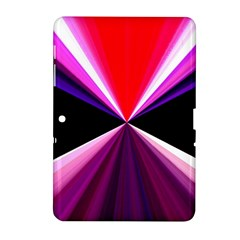 Red And Purple Triangles Abstract Pattern Background Samsung Galaxy Tab 2 (10 1 ) P5100 Hardshell Case